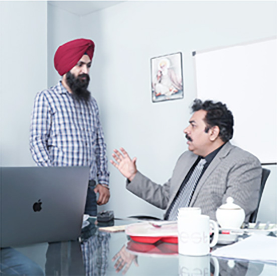 Jagdeep Chawla with employee